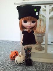 Rue de Cadaver Babydoll Dress and October Knitty Kitty Hat
