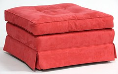 14. Oversized Red Ottoman