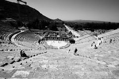 Theatre of Ephesus (Sudhamshu) Tags: bw turkey greek ruins theatre roman steps historic ephesus 1022f3545