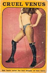 Cruel Venus (Covers etc) Tags: girl cane design legs boots paperback bookcover 1970s sadism