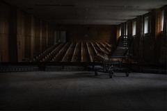 the night watch (andre govia.) Tags: urban never building abandoned buildings hospital dark photo chair shot photos decay wheelchair ghost andre creepy explore stop urbanexploration horror exploration ue govia