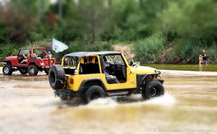 A GREAT DAY AT THE RIVER (Darkmoon Photography) Tags: oklahoma wet river offroad gimp muddy tj darkmoon havingfun wrangler hotday rdj lotsoffun jeepclub reddirtjeeps tiltstyleeffect