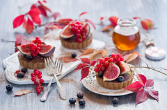 Chocolate tarts with figs (The Little Squirrel) Tags: autumn chocolate honey tarts figs