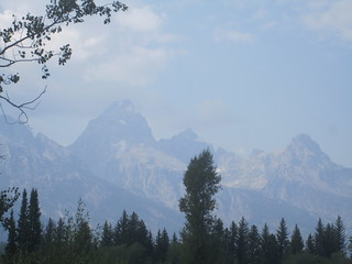 The Tetons through the haze