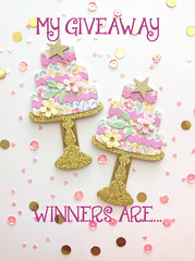 Clips Birthday Giveaway Winners (thevintagegoose) Tags: giveaway cake clips planner winners