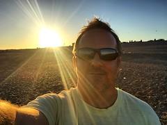 Seaside Sunset Sunbeams Selfie (Marc Sayce) Tags: selfie sunbeams sunset seaside hayling island hampshire