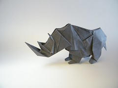 White Rhino - G. T. Liu (Rui.Roda) Tags: origami papiroflexia papierfalten rinoceronte branco white rhino tong g t liu