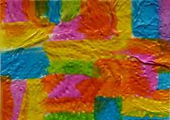 Tumbling Blocks #3 (GlowinGlass) Tags: aceo textured acrylic watercolor paper glowinglass