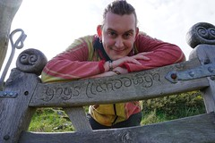 Tilted Entrance (h_fenske@yahoo.com) Tags: portrait people wales europe explore travel adventure beauty gaelic handcarved woodwork