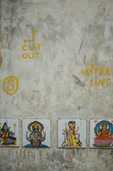 somewhere in Delhi (Shubh M Singh) Tags: connaught place new delhi wall art tile hindu god ricoh gr india