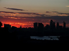 London at Sunset (Waterford_Man) Tags: london sunset redsky thames summer city