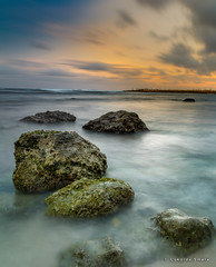 Seaside of Melasti (cokdesmara) Tags: melasti melastibeach ungasan badung bali indonesia nusantara sundown sunset twilight dusk beach seaside shore coast rock landscape seascape beachscape longexposure slowshutter photography photoshoot outdoor sea water ocean