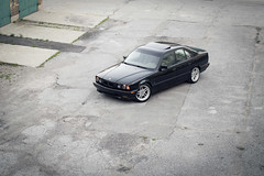 Ma Bimma (biegalskiphotography) Tags: red bmw bimmer e34 525i 5series ultimateklasse hellablack parallel mparallel respectyourelders 6d ff 70200