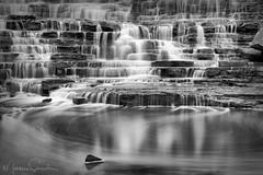 rocky shelves (martinaschneider) Tags: waterfall summer sunrise albionfalls hamilton ontario longexposure water pond rocks outdoor