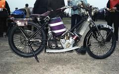 1913? Scott. Reg: OLD 12 (bertie's world) Tags: sunbeam pioneer run 1979 epsomdowns motorcycles scott reg old12