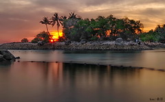 Sunset @Siloso Beach (Ken Goh thanks for 2 Million views) Tags: siloso beach sentosa sunset watre reflection burningcloud coconut tree landscape sigma 1020 pentax k1