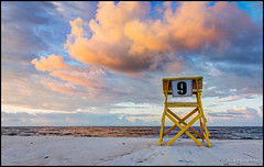 #9 (Nikographer [Jon]) Tags: 20160821d810042432 lido beach lidobeach newyork sand surf atlanticocean lifeguardchair number9 nikon d810 nikond810