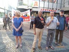 596. Gelsenkirchener Montagsdemo-Bewegung im Zeichen Aktiv gegen Kinderarmut! (Thomas Kistermann) Tags: martina reichmann und thomas kistermann