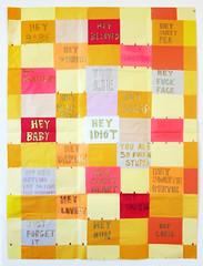 Moniker Quilt (Zehra Khan art) Tags: moniker quilt nicknames zehrakhan drawing collage art patchwork paper sweet cruel