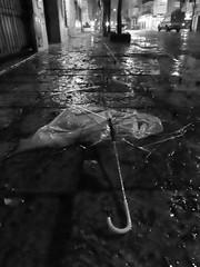 after storm (Fer Gonzalez 2.8) Tags: rain umbrella street night leicadlux4 empty highiso