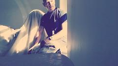sent from above . (j . mahon) Tags: portrait angel me light self shadow sun selfie male window wings sunrays sunlight