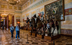 2016 - Baltic Cruise - St. Petersburg - Hermitage 20 (Ted's photos - For Me & You) Tags: 2016 cropped tedmcgrath tedsphotos vignetting ussr russia stpetersburg hermitage museum columns people chandiliers horses unesco unescoworldheritagesite unescoworldculturalcentre theknightsroom