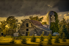 Quietly Awaiting (henryhintermeister) Tags: barns minnesota oldbarns clouds farming countryliving country sunsets storms sunrises pastures nostalgia skies outdoors seasons vergasmn field