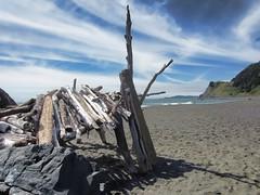 beach house (rovingmagpie) Tags: beach clouds oregon pacific driftwood beachhouse portorford pocketbeach humbugmountainstatepark atps2012