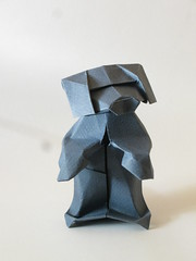 Cute puppy (Origaminic) Tags: dog chien origami canson creasedmagazine jenskober