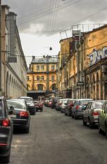 hdr street (Misha_Jet^x) Tags: street cars saint petersburg hdr sanktpeterburg