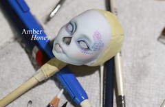 Sucre (Amber-Honey) Tags: monster skull high mod ooak cam ghost sugar create custom catrina mattel calavera repaint