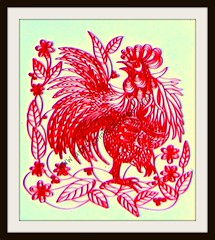 Quilled Red Rooster (Anastasia Annie Wahalatantiri) Tags: red art leaves paper paperart handmade creative rooster handwork handcraft quilling hobbie quilled paperquilling paperstrips kvelling paperfiligree happycraft feligree quilledleaves quilledbird