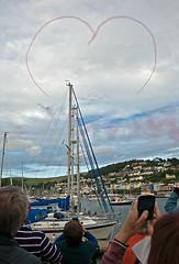 Red Arrows Dartmouth (tramsteer) Tags: england boats devon mast dartmouth raf riverdart kingswear tramsteer redarrowsdartmouthregatta
