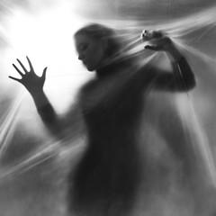 Forevermore (Sabine Fischer) Tags: portrait bw selfportrait backlight studio square lights alien ufo monochrom conceptual closeencounters onelight hijacking schwarzweis 5dmarkii