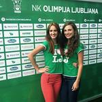 Hostese agencije 22 za NK Olimpija Ljubljana. 01.09.2012