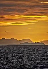 Coast of Mallorca, seen from Menorca. (www.ibarik.com) Tags: sunset sea sky seascape nature clouds landscape island coast mar mediterranean mediterraneo mallorca menorca baleares minorca formentor balearic balears nikond90 cloudsstormssunsetssunrises