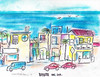 MANHATTAN BEACH SCENES BY R.L.HUFFSTUTTER (roberthuffstutter) Tags: style expressionism impressionism beachcities huffstutter 1960scalifornia watercolorsbyhuffstutter originalsavailable artmarketusa southbaywatercolors southbayscenes signedcopiesavailable watercolorsofsouthbay strandwatercolors huffstutterssouthbayart