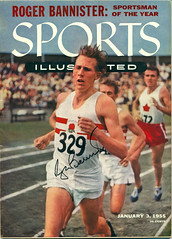January 3, 1955, Roger Bannister, Sportsman of the Year, Autographed Sports Illustrated Magazine (Joe Merchant) Tags: england 6 3 1955 sports magazine four sub illustrated 4 year january may first 1954 running roger runner mile sportsman bannister autographed minute