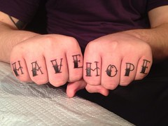 have hope knuckle tattoo by wes fortier