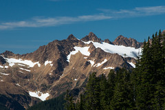 Twin Sisters Mountain from Park Butte Lookout, Mt. Baker National Forest (Matt McGrath Photography) Tags: snow washington glacier firelookout westernwashington twinsistersmountain mtbakersnoqualmienationalforest parkbutte
