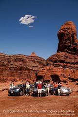 Canyonlands 2012 Landscape Photography Adventure - Group Shot (nubui) Tags: landscape photography nationalpark group canyonlands redrock groupshot 2012 tfttf jonmiller tipsfromthetopfloor chrismarquardt monikaandrae