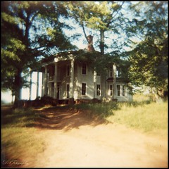 A Blurred Memory... (dsfdawg) Tags: old south southern forgotten country rural abandon abandoned relic ruins decay rust weathered ga georgia nolan mansion plantation farm house home columns holga 120n holga120n 120 film kodak portra 400 exploring dsfdawg dsfotography explore historical historic rustic vintage bygone history oldsouth ruin