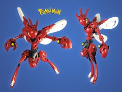Commission: Pokemon Scizor (retinence) Tags: lego pokemon fusion commission bionicle scizor