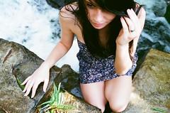 Almost Forgot That I Take 35mm Shots (Scott Southall) Tags: park woman film beautiful 35mm waterfall model nikon rebecca superia southcarolina columbia fujifilm 9312 kickstarter modelmayhem
