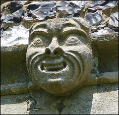 Stone Face, St. Edmunds, Southwold, Suffolk (Lincolnian (Brian)) Tags: uk england church face suffolk abc southwold stoneface stedmunds