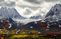 Heavens Gate (Ania.Photography - travelling) Tags: travel autumn light sky usa cloud mountain snow plant mountains tree fall nature beautiful horizontal alaska season landscape outdoors photography moss day dramatic tranquility glacier snowcapped grow