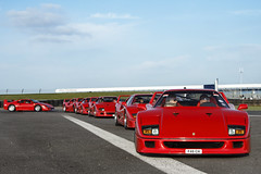 Follow the Leader. (Alex Penfold) Tags: world auto camera red 6 cars alex sports up car sport mobile canon photography eos photo cool flickr image awesome flash picture super run ferrari spot racing days line exotic photograph silverstone record spotted hyper supercar spotting ch exotica sportscar 2012 sportscars supercars combo f40 penfold spotter hypercar 60d hypercars alexpenfold