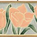 185. Tulip Carved Tile Wall Hanging