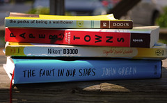 Depth of Field Assignment (jessicahopelytle) Tags: books johngreen theperksofbeingawallflower stephenchbosky papertowns thefaultinourstars nikond3000digitalfieldguide