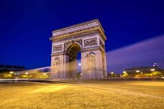 Trace du fantome du soldat trs connu (B.Deschamps | Photography ) Tags: sunset paris de la place arc bleu concorde hdr couleur heure triumphe